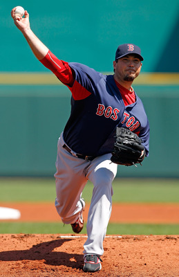 BRADENTON, FL - MARCH 13:  Pitcher Josh Beckett #19 of the Boston Red Sox pitches against the Pittsburgh Pirates during a Grapefruit League Spring Training Game at McKechnie Field on March 13, 2011 in Bradenton, Florida.  (Photo by J. Meric/Getty Images)