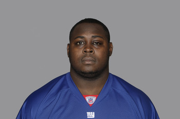 EAST RUTHERFORD, NJ - CIRCA 2010: In this handout image provided by the NFL, Rocky Bernard of the New York Giants poses for his 2010 NFL headshot circa 2010 in East Rutherford, New Jersey. (Photo by NFL via Getty Images)