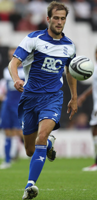 MILTON KEYNES, ENGLAND - AUGUST 03:  Roger Johnson of Birmingham City during a Pre-Season Friendly match between MK Dons and Birmingham City at the Stadiummk on August 3, 2010 in Milton Keynes, England.  (Photo by Phil Cole/Getty Images)