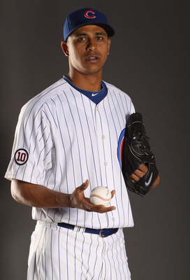 MESA, AZ - FEBRUARY 22:  Angel Guzman #37 of the Chicago Cubs poses for a portrait during media photo day at Finch Park on February 22, 2011 in Mesa, Arizona.  (Photo by Ezra Shaw/Getty Images)