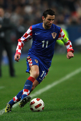 PARIS, FRANCE - MARCH 29:  Darijo Srna of Croatia in action during the International friendly match between France and Croatia at Stade de France on March 29, 2011 in Paris, France.  (Photo by Dean Mouhtaropoulos/Getty Images)