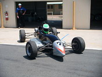 Patrick drove a Formula Ford similar to this car in 2000 at Brands Hatch, England.