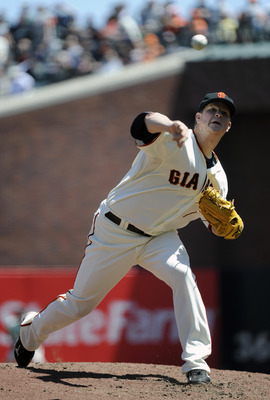 SAN FRANCISCO, CA - MAY 12: Matt Cain #18 of the San Francisco Giants pitches against the Arizona Diamondbacks during a MLB baseball game at AT&T Park May 12, 2011 in San Francisco, California. (Photo by Thearon W. Henderson/Getty Images)