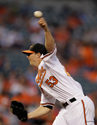 BALTIMORE, MD - MAY 12: Starting pitcher Zach Britton #53 of the Baltimore Orioles delivers to a Seattle Mariners batter during the fourth inning at Oriole Park at Camden Yards on May 12, 2011 in Baltimore, Maryland.  (Photo by Rob Carr/Getty Images)