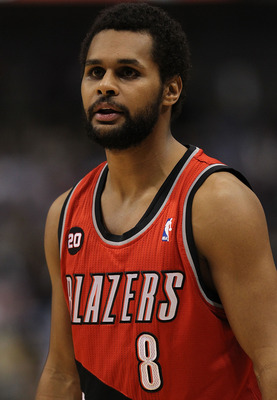 DALLAS, TX - DECEMBER 15:  Guard Patrick Mills #8 of the Portland Trail Blazers at American Airlines Center on December 15, 2010 in Dallas, Texas.  NOTE TO USER: User expressly acknowledges and agrees that, by downloading and or using this photograph, Use