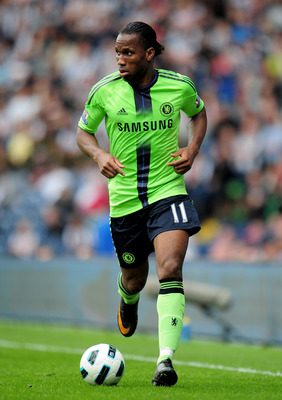 WEST BROMWICH, ENGLAND - APRIL 16:   Didier Drogba of Chelsea in action during the Barclays Premier League match between West Bromich Albion and Chelsea at The Hawthorns on April 16, 2011 in West Bromwich, England.  (Photo by Shaun Botterill/Getty Images)