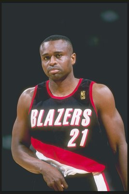 8 Apr 1997: Guard Rumeal Robinson of the Portland Trailblazers stands on the court during a game against the Dallas Mavericks at Reunion Arena in Dallas, Texas. The Mavericks won the game 87-82.
