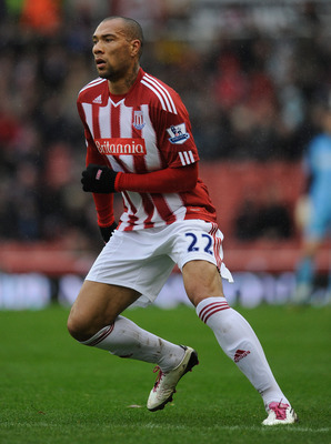 STOKE ON TRENT, ENGLAND - FEBRUARY 05: John Carew of Stoke in action during the Barclays Premier League match between Stoke City and Sunderland at the Britannia Stadium on February 5, 2011 in Stoke on Trent, England.  (Photo by Michael Regan/Getty Images)