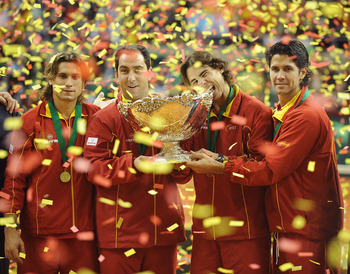 Spanish Davis Cup Team Victorious