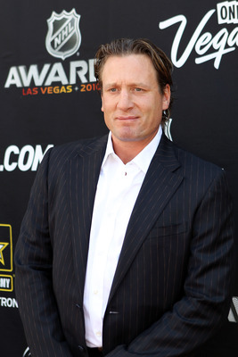 LAS VEGAS - JUNE 23:  Jeremy Roenick arrives during the red carpet arrivals for the 2010 NHL Awards at the Palms Casino Resort on June 23, 2010 in Las Vegas, Nevada.  (Photo by Bruce Bennett/Getty Images)