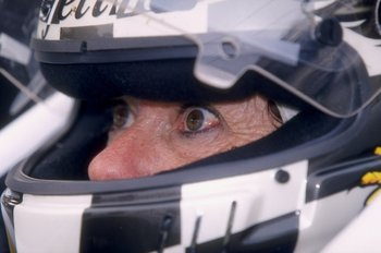 15 May 1998:  Lynn St. James stares from her helmet during the 82nd Indy 500 at the Indianapolis Motor Speedway in Indianapolis, Indiana. Mandatory Credit: David Taylor  /Allsport