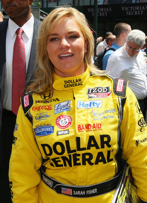 NEW YORK - MAY 25:  Indy 500 driver Sarah Fisher attends the Macy's and IZOD's celebration of the Indianapolis Motor Speedway and the Indy 500 at Macy's Herald Square on May 25, 2010 in New York City.  (Photo by Mike Stobe/Getty Images)