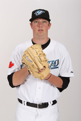 DUNEDIN, FL - FEBRUARY 20:  Deck McGuire #72 of the Toronto Blue Jays poses during photo day at Florida Auto Exchange Stadium on February 20, 2011 in Dunedin, Florida.  (Photo by Nick Laham/Getty Images)