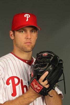 CLEARWATER, FL - FEBRUARY 24:  Joe Savery #79 of the Philadelphia Phillies poses for a photo during Spring Training Media Photo Day at Bright House Networks Field on February 24, 2010 in Clearwater, Florida.  (Photo by Nick Laham/Getty Images)