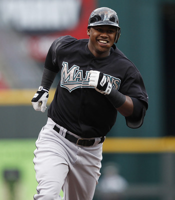 CINCINNATI, OH - MAY 1:  Hanley Ramirez #2 of the Florida Marlins rounds the bases after hitting a home run in the first inning against the Cincinnati Reds at Great American Ball Park on May 1, 2011 in Cincinnati, Ohio. The Marlins defeated the Reds 9-5.