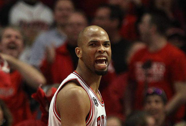 CHICAGO, IL - MAY 15:  Taj Gibson #22 of the Chicago Bulls reacts against the Miami Heat in Game One of the Eastern Conference Finals during the 2011 NBA Playoffs on May 15, 2011 at the United Center in Chicago, Illinois. NOTE TO USER: User expressly ackn