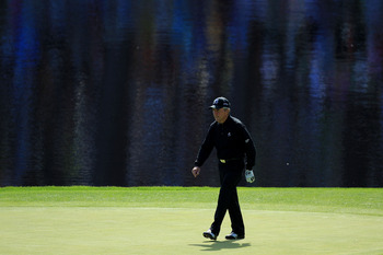 AUGUSTA, GA - APRIL 06:  Gary Player of South Africa during the Par 3 Contest prior to the 2011 Masters Tournament at Augusta National Golf Club on April 6, 2011 in Augusta, Georgia.  (Photo by David Cannon/Getty Images)