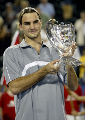 In 2003, Roger Federer was much too busy trying to win Grand Slam tournaments to care about his personal appearance, as evidenced by this Master's Cup photograph taken in 2003.