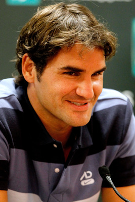 "Nothing quite says ""I'm Roger Federer, and you should quit tennis for the rest of your life,"" like Roger Federer's trademark grin."