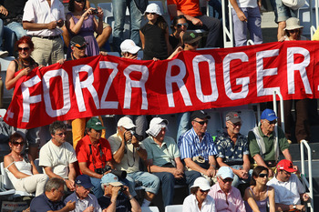 Federer's fans are known for their incredible stamina, oftentimes cheering into the final rounds of many a tournament.