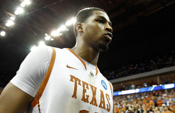 TULSA, OK - MARCH 20:  Tristan Thompson #13 of the Texas Longhorns walks off the court after their 70-69 loss to the Arizona Wildcats in the third round of the 2011 NCAA men's basketball tournament at BOK Center on March 20, 2011 in Tulsa, Oklahoma.  (Pho