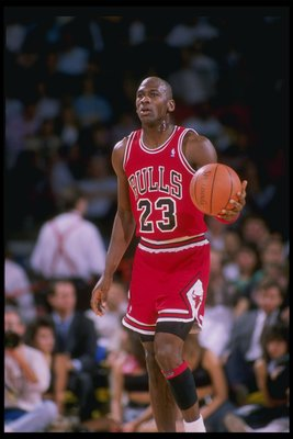 1989-1990:  Guard Michael Jordan of the Chicago Bulls in action. Mandatory Credit: Tim de Frisco  /Allsport