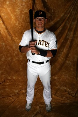 BRADENTON, FL - FEBRUARY 28:  Tony Sanchez #55 of the Pittsburgh Pirates poses for photos during media day on February 28, 2010 in Bradenton, Florida.  (Photo by Marc Serota/Getty Images)
