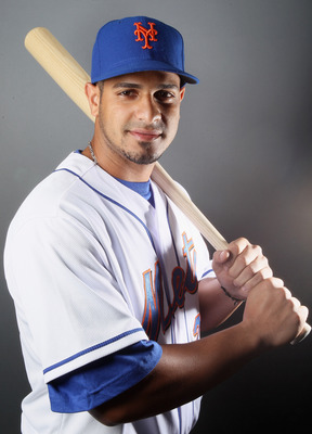 PORT ST. LUCIE, FL - FEBRUARY 24:  Fernando Martinez #26 of the New York Mets poses for a portrait during the New York Mets Photo Day on February 24, 2011 at Digital Domain Park in Port St. Lucie, Florida.  (Photo by Elsa/Getty Images)