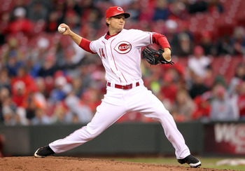 CINCINNATI, OH - MAY 03:  Mike Leake #44 of the Cincinnati Reds throws a pitch during the game against the Houston Astros at Great American Ball Park on May 3, 2011 in Cincinnati, Ohio.  (Photo by Andy Lyons/Getty Images)