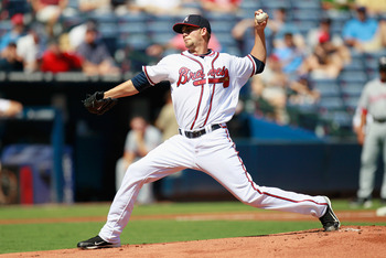 ATLANTA - SEPTEMBER 15:  Pitcher Mike Minor #56 of the Atlanta Braves against the Washington Nationals at Turner Field on September 15, 2010 in Atlanta, Georgia.  (Photo by Kevin C. Cox/Getty Images)