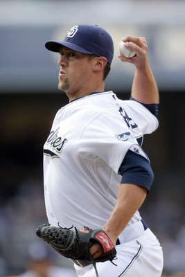 SAN DIEGO, CA - APRIL 5:  Pitcher Luke Gregerson #57 of the San Diego Padres throws the ball against the San Francisco Giants during their MLB Game at Petco Park on April 5, 2011 in San Diego, California. Padres won 3-1. (Photo by Donald Miralle/Getty Ima