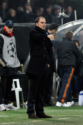 MILAN, ITALY - DECEMBER 08:  AFC Ajax head coach Frank de Boer during the UEFA Champions League Group G match between AC Milan and AFC Ajax at Stadio Giuseppe Meazza on December 8, 2010 in Milan, Italy.  (Photo by Claudio Villa/Getty Images)