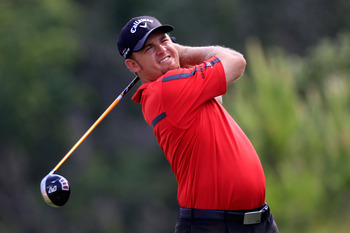 PONTE VEDRA BEACH, FL - MAY 13:  J.B. Holmes hits his tee shot on the 14th hole during the second round of THE PLAYERS Championship held at THE PLAYERS Stadium course at TPC Sawgrass on May 13, 2011 in Ponte Vedra Beach, Florida.  (Photo by Sam Greenwood/