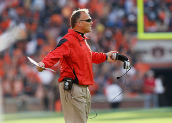 Mark Richt was left searching for answers as his team collapsed against Auburn last November.