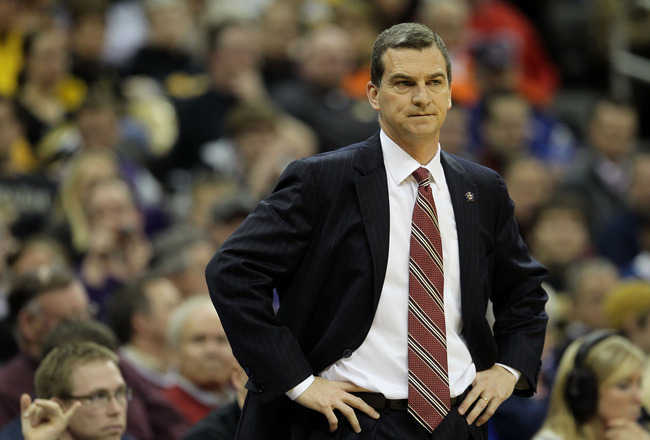 KANSAS CITY, MO - MARCH 10:  Head coach Mark Turgeon of the Texas A&M Aggies looks on during their quarterfinal game against the Missouri Tigers in the 2011 Phillips 66 Big 12 Men's Basketball Tournament at Sprint Center on March 10, 2011 in Kansas City,