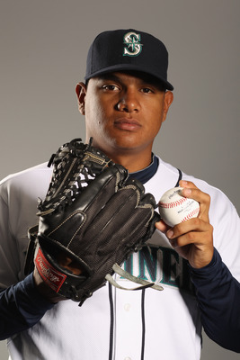 PEORIA, AZ - FEBRUARY 20:  Mauricio Robles #67 of the Seattle Mariners poses for a portrait at the Peoria Sports Complex on February 20, 2011 in Peoria, Arizona.  (Photo by Ezra Shaw/Getty Images)