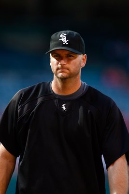 ANAHEIM, CA - MAY 25:  A.J. Pierzynski #12 of the Chicago White Sox takes batting practice prior to the game against the Los Angeles Angels of Anaheim at Angel Stadium on May 25, 2009 in Anaheim, California.  (Photo by Jeff Gross/Getty Images)