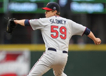 SEATTLE - JUNE 02:  Starting pitcher Kevin Slowey #59 of the Minnesota Twins pitches against the Seattle Mariners at Safeco Field on June 2, 2010 in Seattle, Washington. (Photo by Otto Greule Jr/Getty Images)