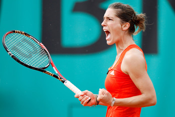 Andrea Petkovic at the 2010 French Open.