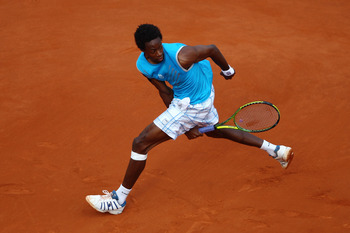 Gael Monfils at the 2010 French Open.