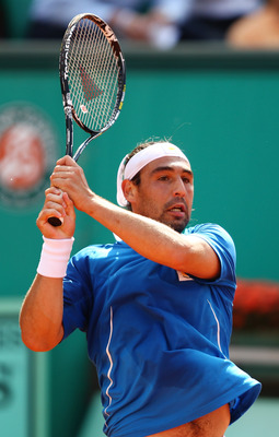Marcos Baghdatis at the 2010 French Open.