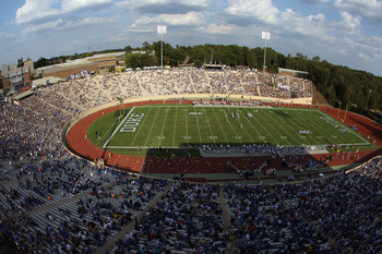 DURHAM, NC - SEPTEMBER 25:  A general view of the Army Black Knights versus the Duke Blue Devils at Wallace Wade Stadium on September 25, 2010 in Durham, North Carolina.  (Photo by Streeter Lecka/Getty Images)
