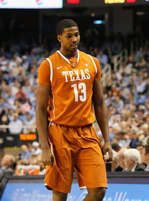 GREENSBORO, NC - DECEMBER 18:  Tristan Thompson #13 of the Texas Longhorns against Tyler Zeller #44 of the North Carolina Tar Heels at Greensboro Coliseum on December 18, 2010 in Greensboro, North Carolina.  (Photo by Kevin C. Cox/Getty Images)