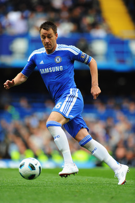 LONDON, ENGLAND - MAY 15:  John Terry of Chelsea in action during the Barclays Premier League match between Chelsea and Newcastle United at Stamford Bridge on May 15, 2011 in London, England.  (Photo by Mike Hewitt/Getty Images)