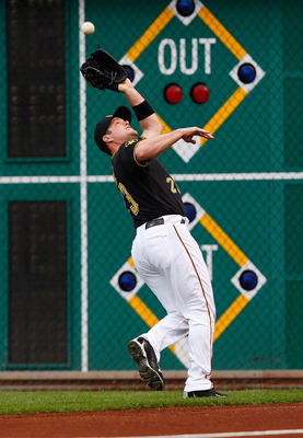 PITTSBURGH - MAY 06:  Matt Diaz #23 of the Pittsburgh Pirates makes a catch in right field against the Houston Astros during the game on May 6, 2011 at PNC Park in Pittsburgh, Pennsylvania.  (Photo by Jared Wickerham/Getty Images)