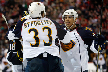 Dustin Byfuglien and Evander Kane