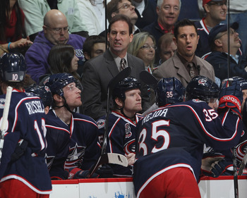 Coach Scott Arniel and the Blue jackets