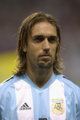 SAPPORO - JUNE 7:  Portrait of Gabriel Batistuta of Argentina before the FIFA World Cup Finals 2002 Group F match between England and Argentina played at the Sapporo Dome, in Sapporo, Japan on June 7, 2002. England won the match 1-0. DIGITAL IMAGE. (Photo