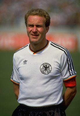21 Jun 1986:  Portrait of Karl Heinz Rummenigge of West Germany before the World Cup quarter-final match against Mexico at the Estadio Universitario in Monterrey, Mexico. \ Mandatory Credit: AllsportUK  /Allsport