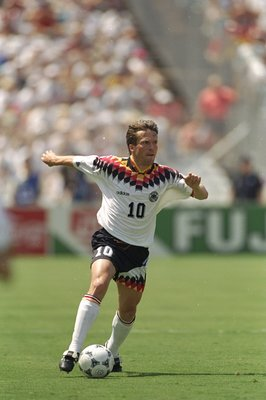 27 Jun 1994:  Lothar Matthaus of Germany in action during the World Cup match against South Korea at the Cotton Bowl in Dallas, Texas, USA. Germany won the match 3-2. \ Mandatory Credit: David  Cannon/Allsport